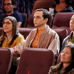 Sheldon, Amy and Stuart at the movies.