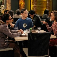 Mary eats out at a sushi restaurant with Leonard and Sheldon.