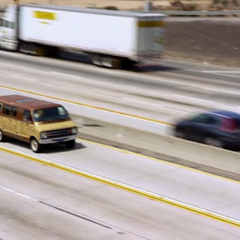 Rushing down the highway in Richard Feynman's van.