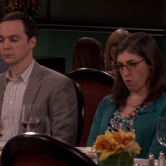 Sheldon's mother just left with Alfred.