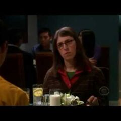 Amy conversing with Sheldon.