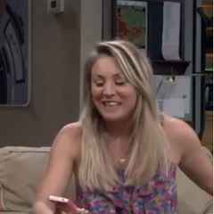 Penny playing 3D chess with Sheldon.