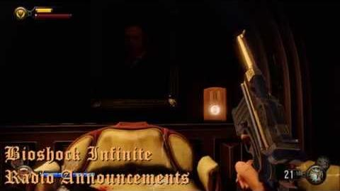 BioShock Infinite Public Address Announcements