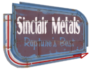 Sinclair Metals Sign arrow