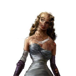 Ilustración conceptual de Blanche después de convertirse en Splicer.