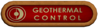 Geothermal Control Sign