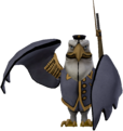 Earnest Eagle standing statue.png