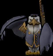 Earnest Eagle standing statue