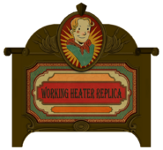 Working Heater Replica sign