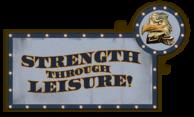Strength Through Leisure Sign