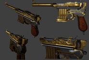 BI Golden Pistol Model
