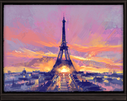 Monument Tower Dressing Room Paris Painting