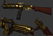 BI Golden MachineGun Model