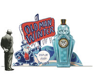 Old Man Winter Standee Display Concept
