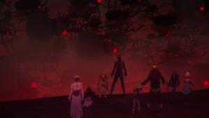 Satomi's team witnesses the swarm of Gastrea