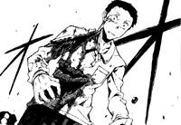 Sumiaki's injured body