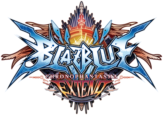 File:BlazBlue Chronophantasma Extend (Logo).png