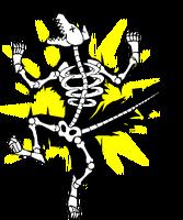 Valkenhayn R. Hellsing (Sprite, electrocuted, wolf)