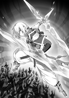BlazBlue Spiral Shift Hyōjin no Eiyū (Black and white illustration, 3)
