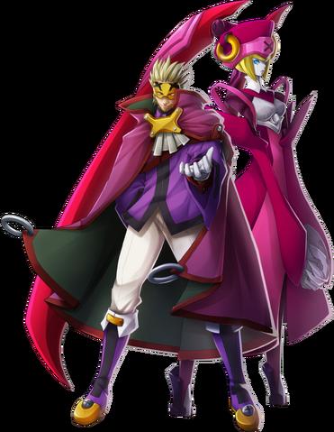 File:Relius Clover (Chronophantasma, Character Select Artwork).png