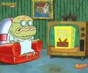 Viejo Jenkins viendo un anuncio de las Hojuelas de afrancho.