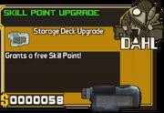 Skill point upgrade item card
