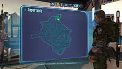 Opportunity Knocks ECHO 1 on map
