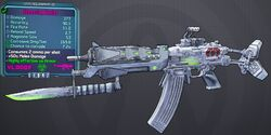 Blaster(assault rifle) Skewering lvl25