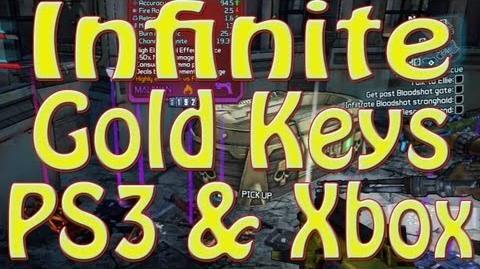 Borderlands 2 GLITCH Unlimited Golden Keys ( PS3 & XBOX)