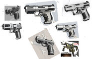 Dahl pistol sketches