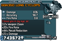 GGN350 Long Cyclops