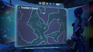 Borderlands2 frostburncanyon echo 2 map