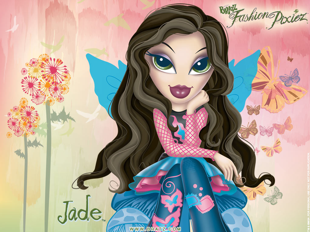 Image - Bratz Fashion Pixiez Wallpaper Jade.jpg | Bratz ...