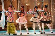 Bratz The Movie Girls as Clown Waitresses
