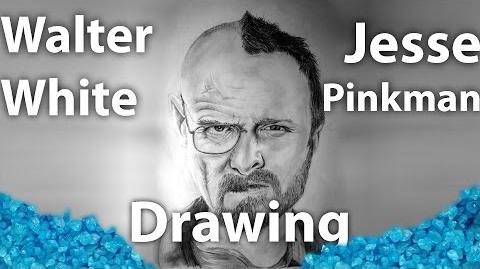 "Breaking Bad - Drawing Walter White and Jesse Pinkman In One Face ""SpeedART"""