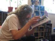 Alan Moore reading Crikey!