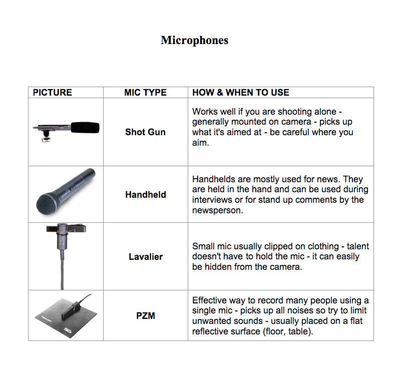A discussion about types of microphones