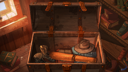 Gehnen's trunk found in Castell dels Sants' library