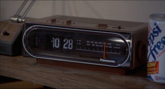 Marty s bedside clock radio in 1985  with a can of his favorite drink   Pepsi Free  next to it. Clock radio   Futurepedia   Fandom powered by Wikia