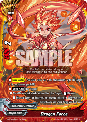 future card buddyfight dragon force