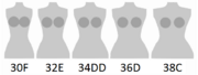 Cup size comparison sister sizes