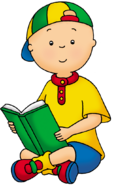 Caillou reading abook-636x1024
