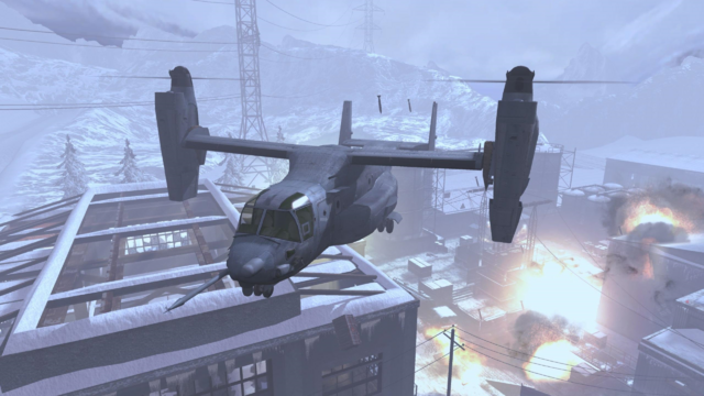 File:V-22 Osprey flying over Outpost MW3.png