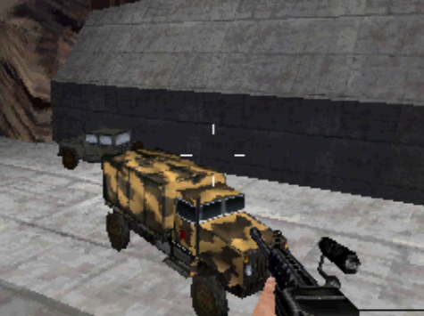 File:Russian Troop Transport and jeep on the dam.PNG