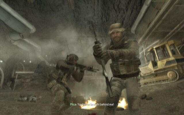 File:Price Giving An M4A1 Down the Rabbit Hole MW3.jpg
