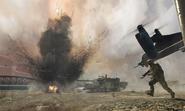 Mortar strike on hamburg beach Goalpost MW3
