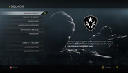 Squads modes menu CODG