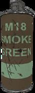 M18 smoke grenade green WaW