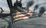 Ripped USA flag Hunter Killer MW3