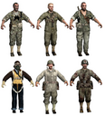 American character models WaW